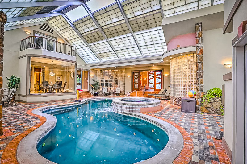 Beautiful Airbnb in Ohio with an indoor pool.