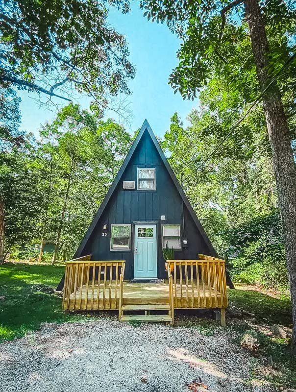 A-Frame cabin at Lake of the Ozarks