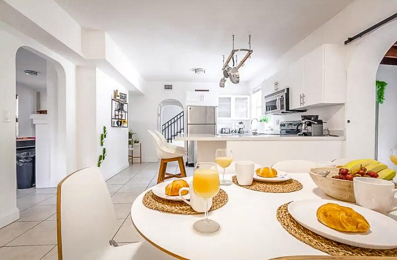 Gorgeous kitchen inside the Miami vacation rental