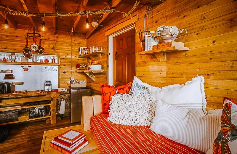 Cozy rustic touches inside the rental