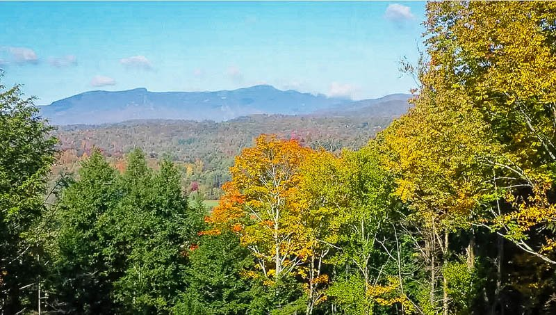 Sweeping mountain vistas from this Stowe Airbnb