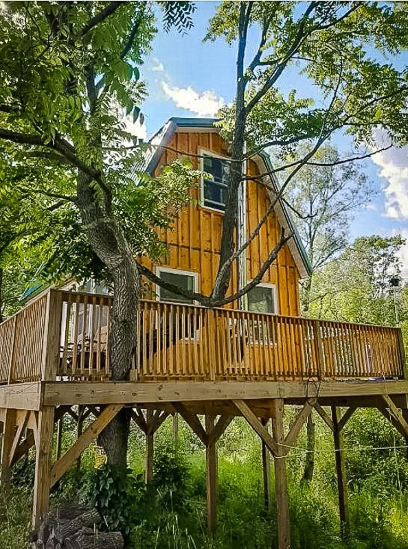 One of the best Airbnb treehouses in the Finger Lakes region of New York