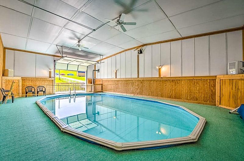 Quiet getaway in Virginia with an inside pool.