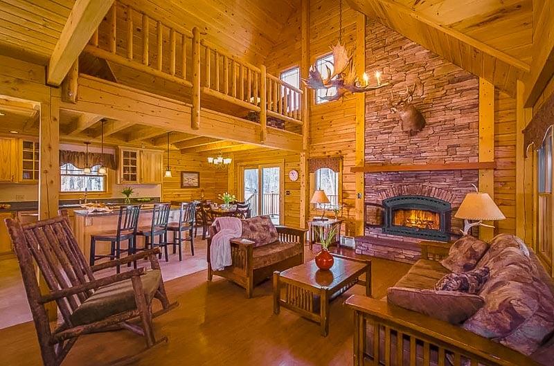 Luxury cabin décor.