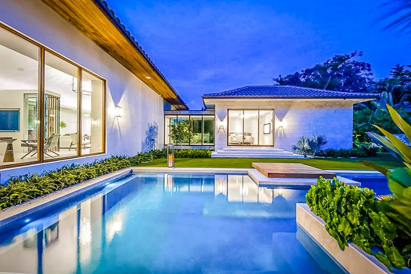 This Airbnb mansion has one of the best pools in Miami.