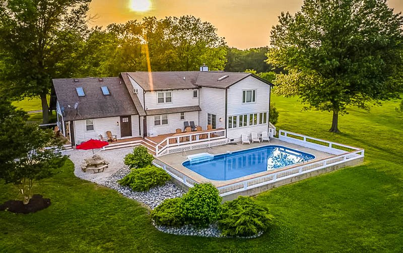 Stunning pool house in MD.