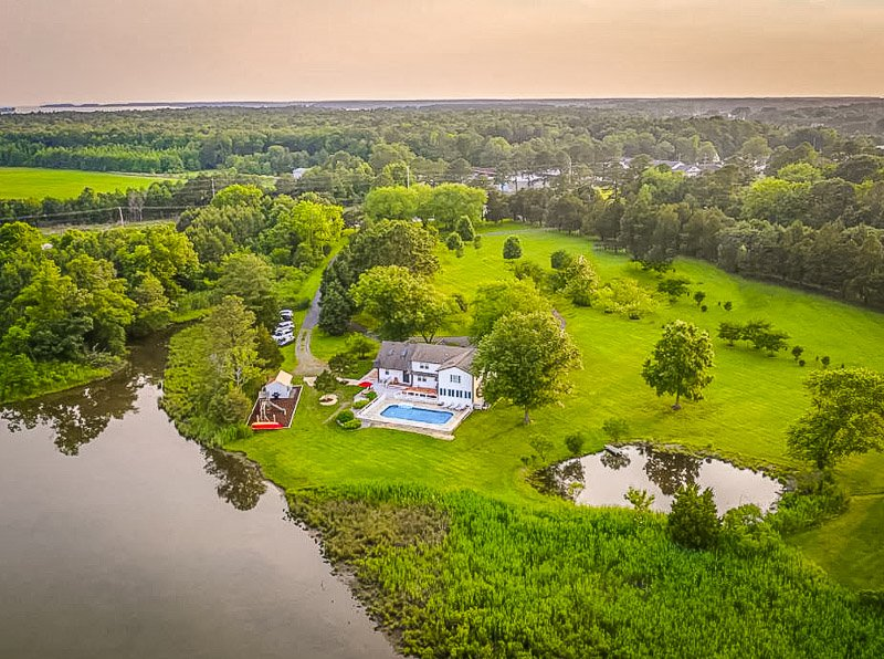 Aerial drone footage of this beautiful property