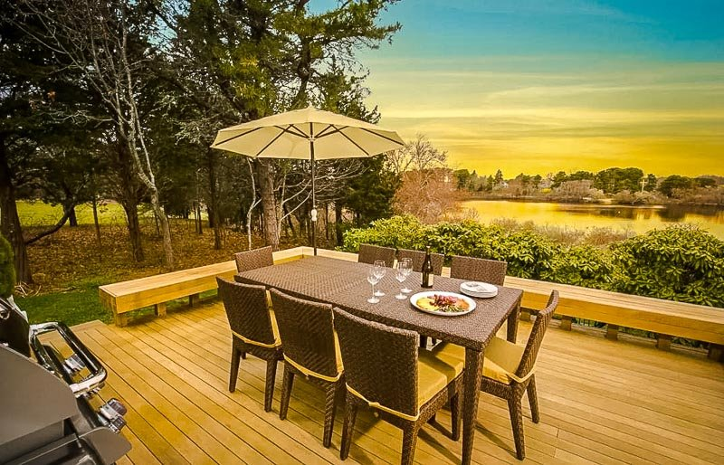 Beautiful views of sunrises and sunsets from the patio
