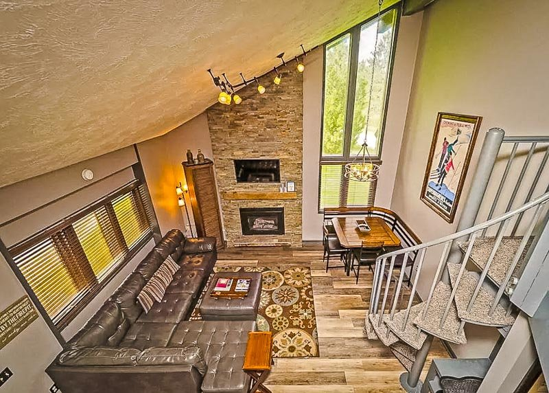 This lavish condo is one of the best winter vacation rentals in the Midwest