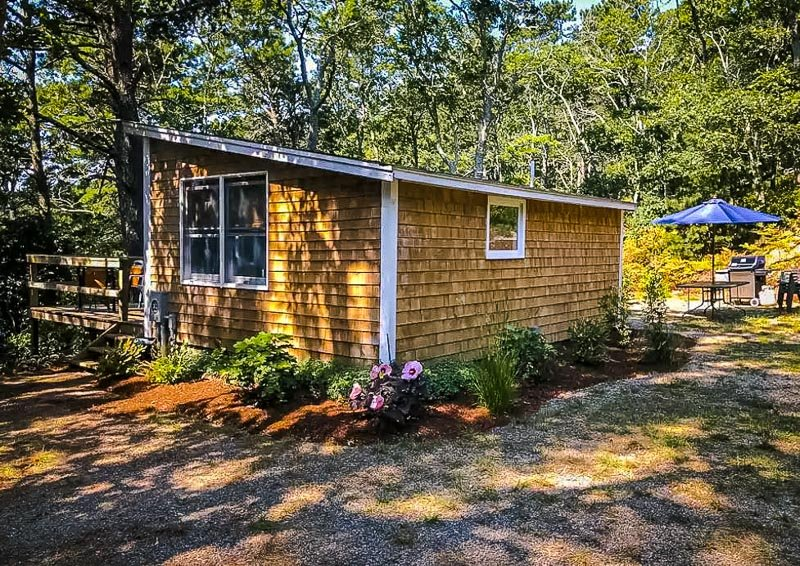 This rustic cabin in the woods is definitely one of the coolest Airbnbs in Cape Cod