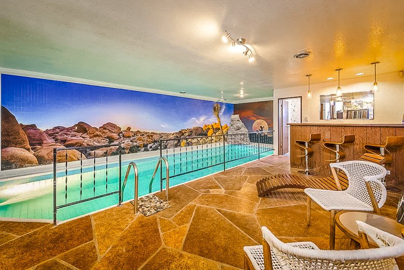 California vacation rental with a beautiful indoor pool