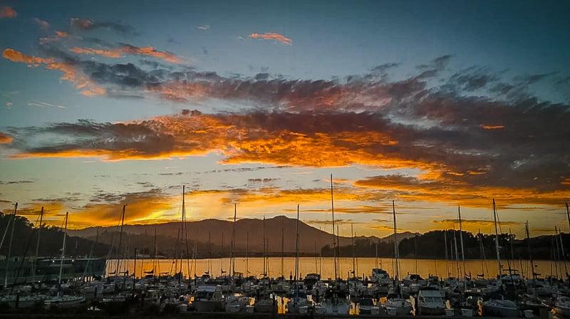 Sunset views in Sausalito, California