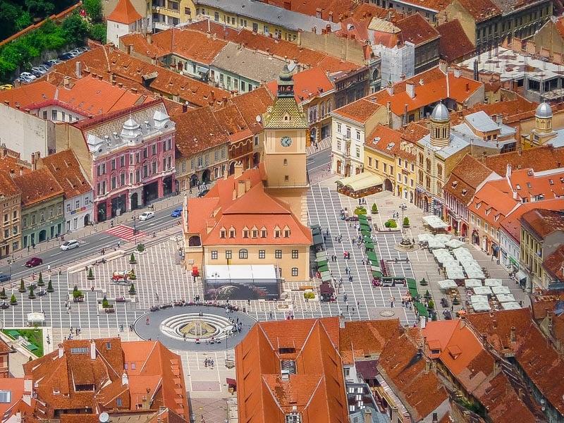 Council Square in Brașov, Romania is among the prettiest European squares.