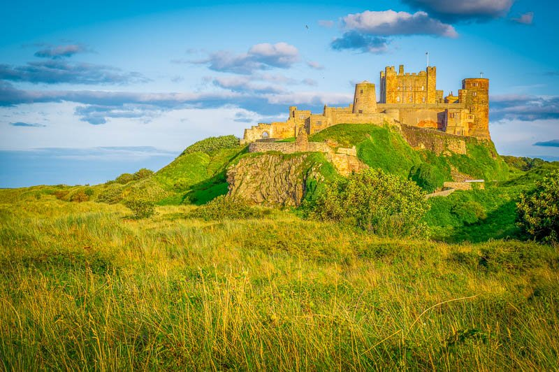 Bamburgh Castle is a must-see photo spot in the UK.
