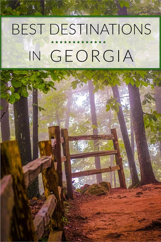 Best places to visit in Georgia Pinterest Image