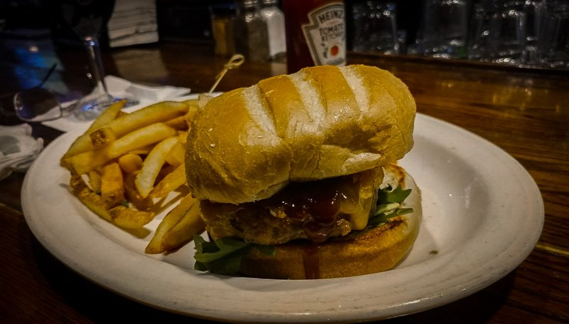 Burger, fries, and beer at Warren Tavern. Nothing beats it!