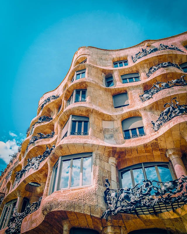 Casa Milà was designed by the acclaimed Catalan architect Antoni Gaudí
