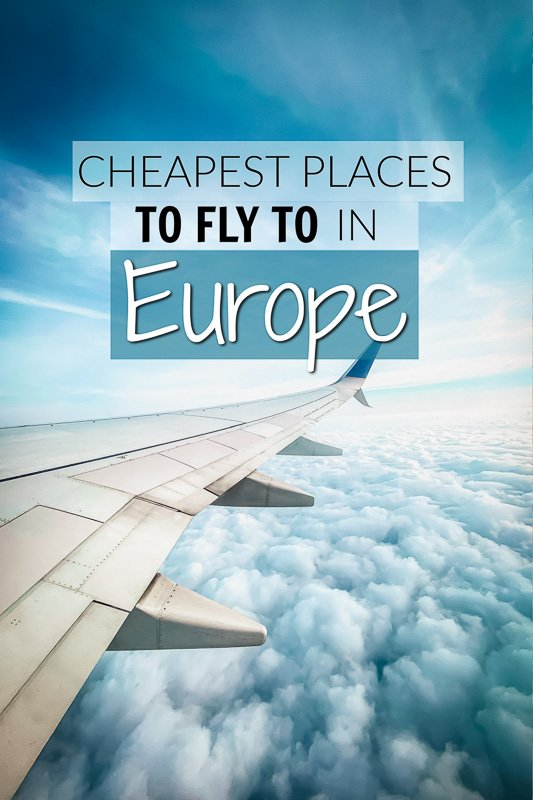 Cheapest European cities to fly to in Europe from the US pinterest photo