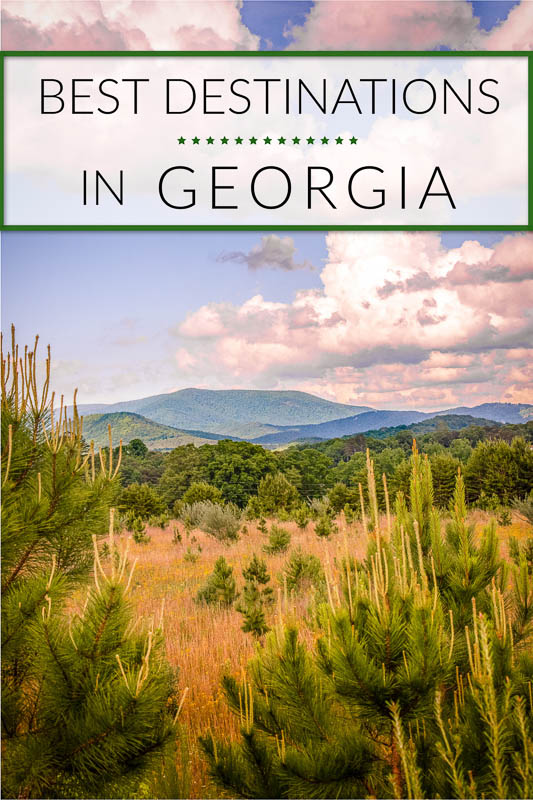 Unique places to visit in Georgia Pinterest Photo