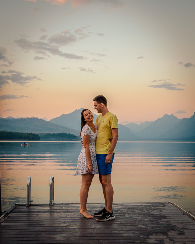 My wife and I on Lake McDonald in Montana.