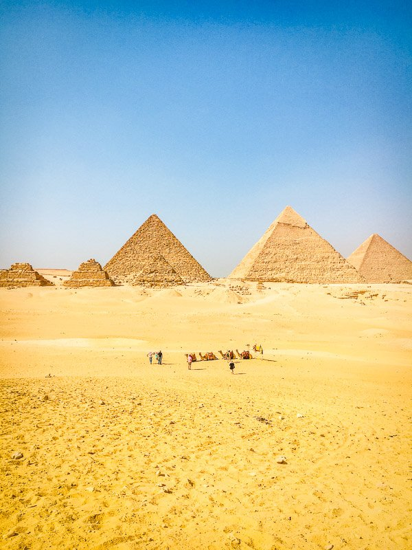 Seeing the Egyptian pyramids is a top bucket list experience.