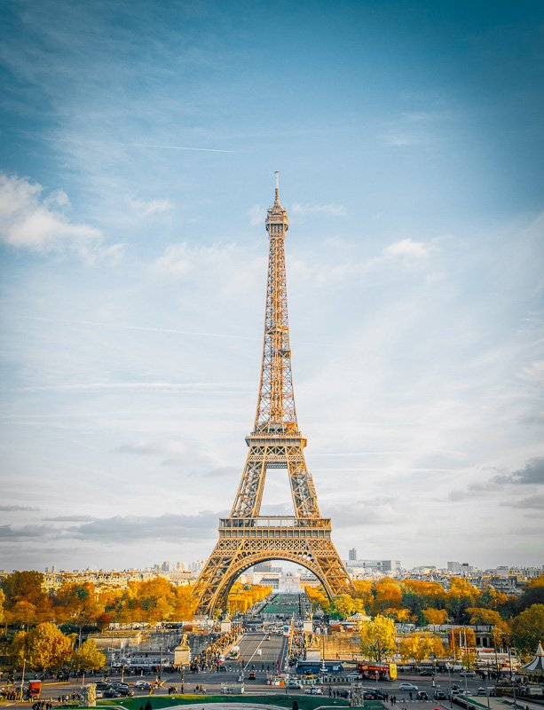 The Eiffel Tower in Paris is a sight to behold.