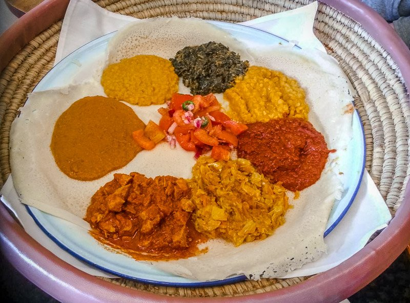 Delicious Ethiopian and Eritrean-style dishes