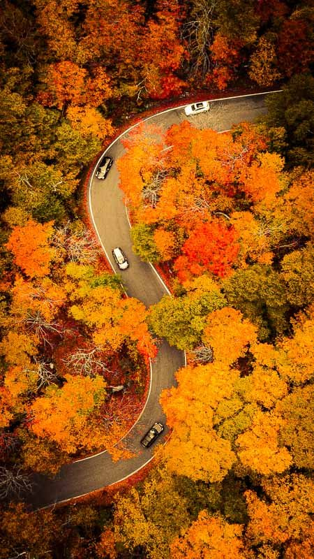 Fall foliage in Stowe, Vermont, shows that fall is the best time to visit New England