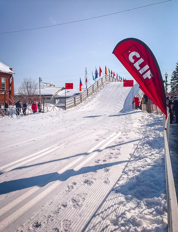 The Finish Line of the American Birkebeiner.