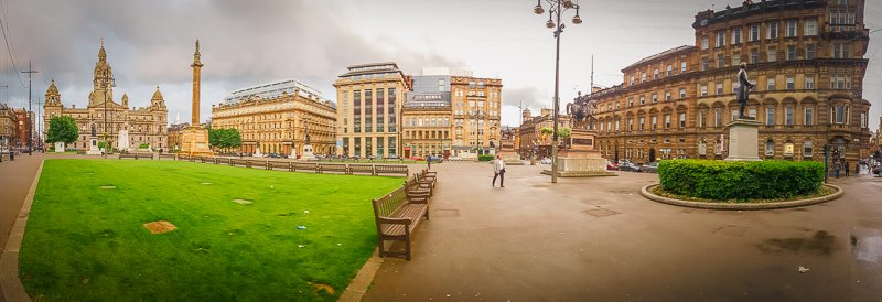 George Square in Glasgow is an Insta worthy sight in Scotland.