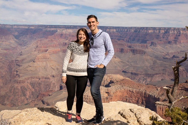 Couple's photo in Grand Canyon National Park