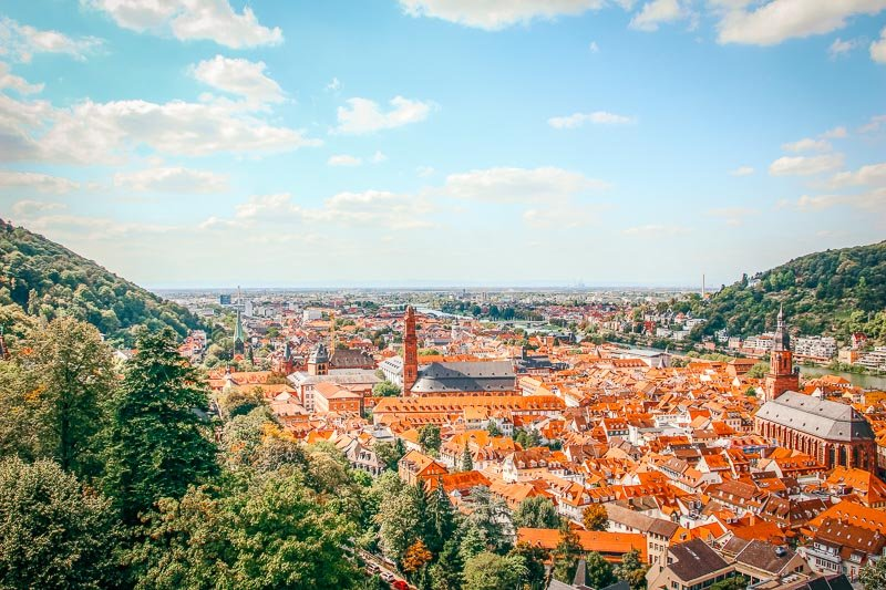 Heidelberg's beautiful skyline.
