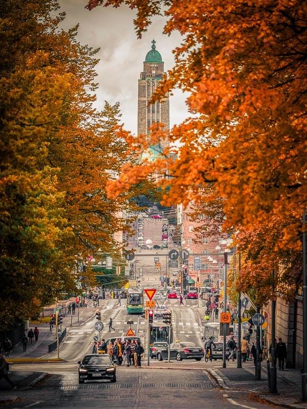 Helsinki, Finland in the fall.