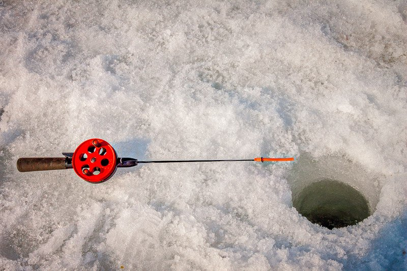 Ice fishing is a popular thing to do in Wisconsin during the winter months.