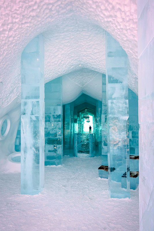 Icehotel in northern Sweden