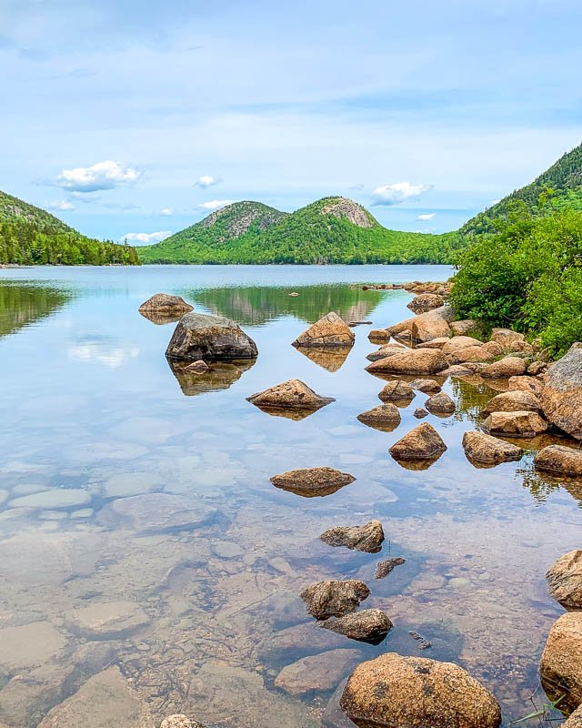 Jordan Pond is a must-see in Acadia National Park, one of the coolest weekend getaways from Boston.