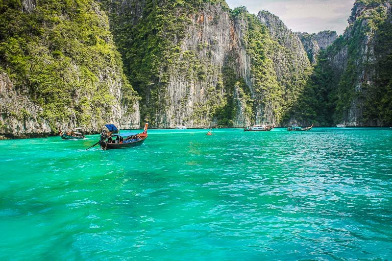 Ko Phi Phi Le is one of the most unique islands in the archipelago