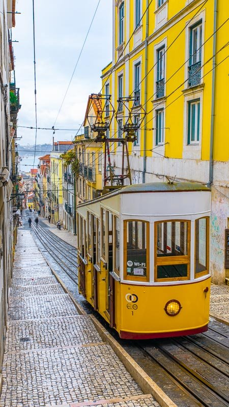 The Ascensor da Bica is one of the most iconic sights in Lisbon.