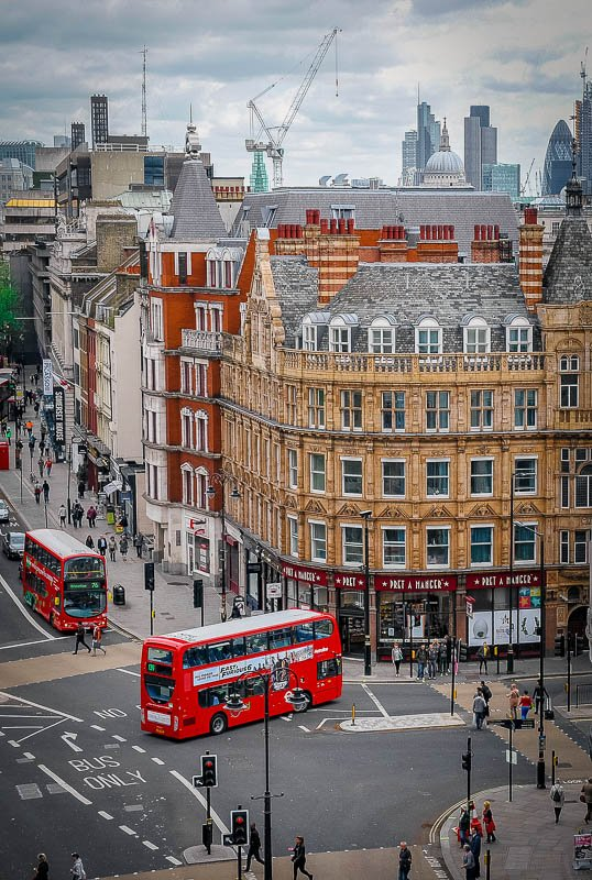 London is a cheap city to fly to from the US, but it's expensive once you get there.