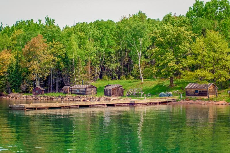 Manitou Island Fish Camp dates back to the 1890s. There are 5 restored cabins that harken back to those days.