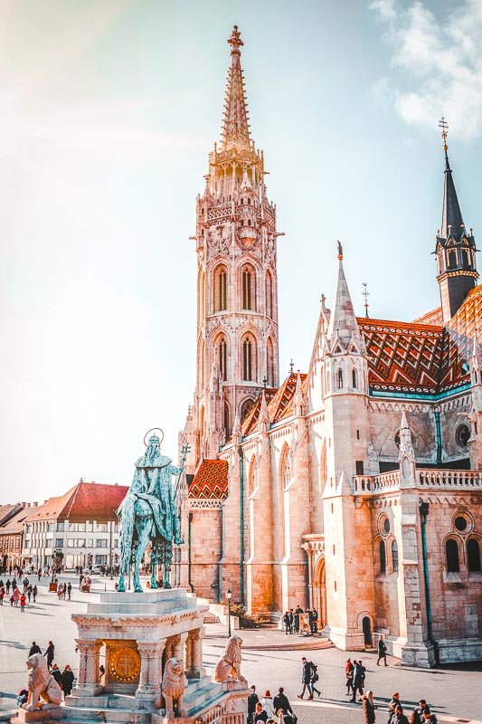 Matthias Church is located in the Holy Trinity Square in Budapest.