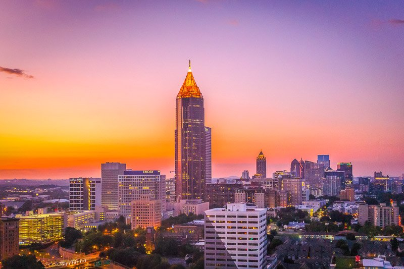 The Midtown Atlanta Skyline. Atlanta is certainly among the best places to visit in Georgia