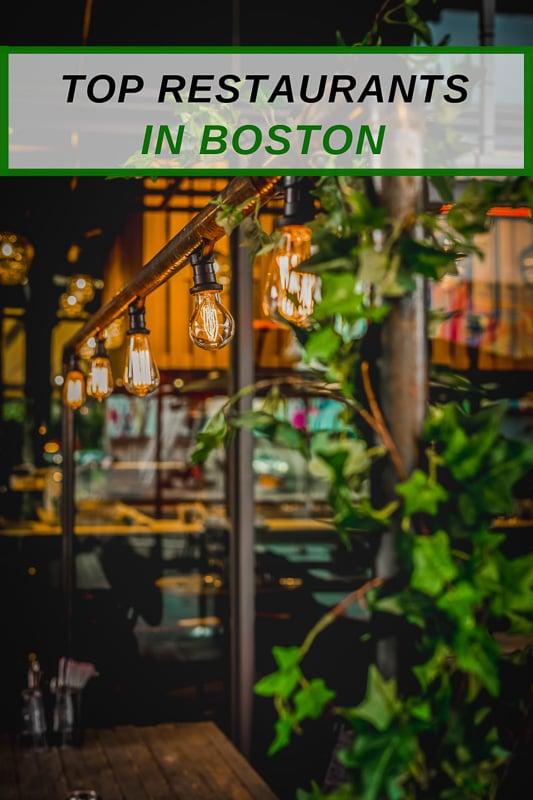 Unique restaurants in Boston that have amazing food