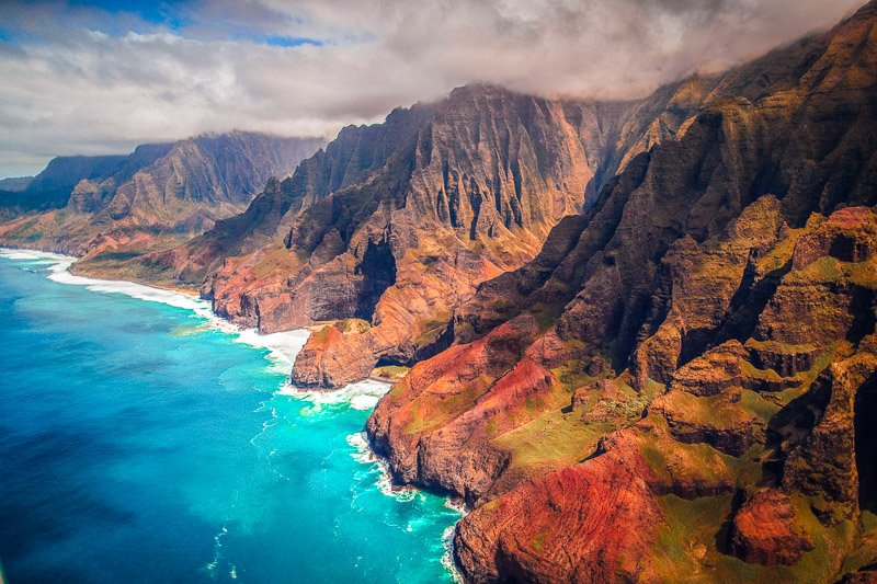Nāpali Coast State Wilderness Park is one of the most beautiful places of the island of Kauai