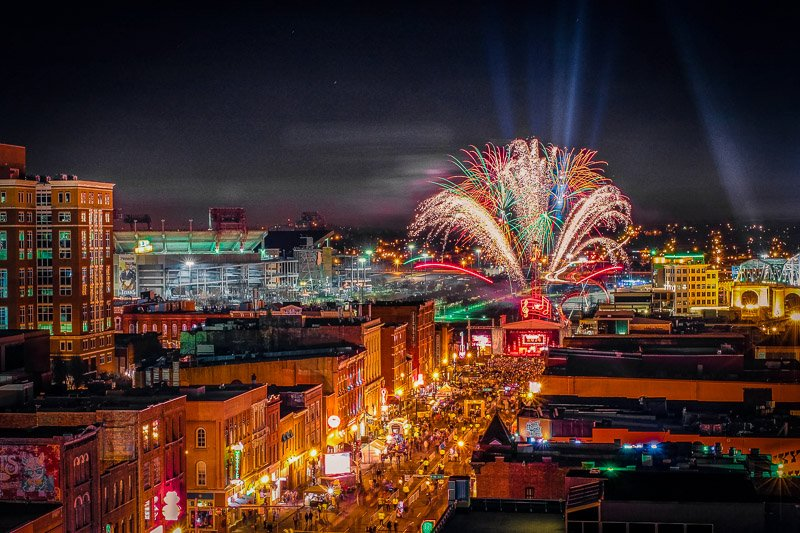 New Years Eve is a great time to visit Nashville with friends