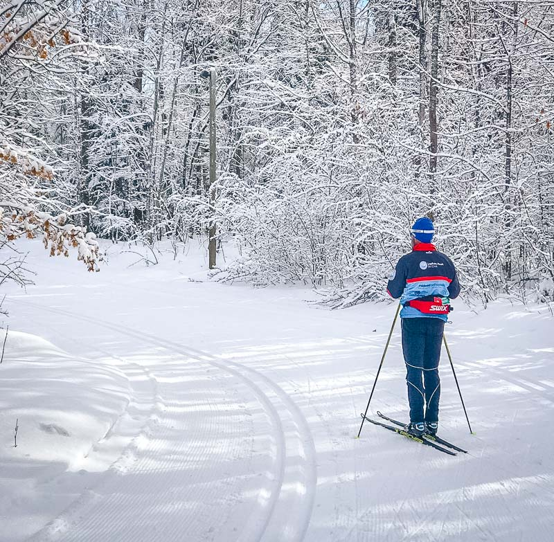Nordic skiing is one of the best fun things to do in Wisconsin in the winter.