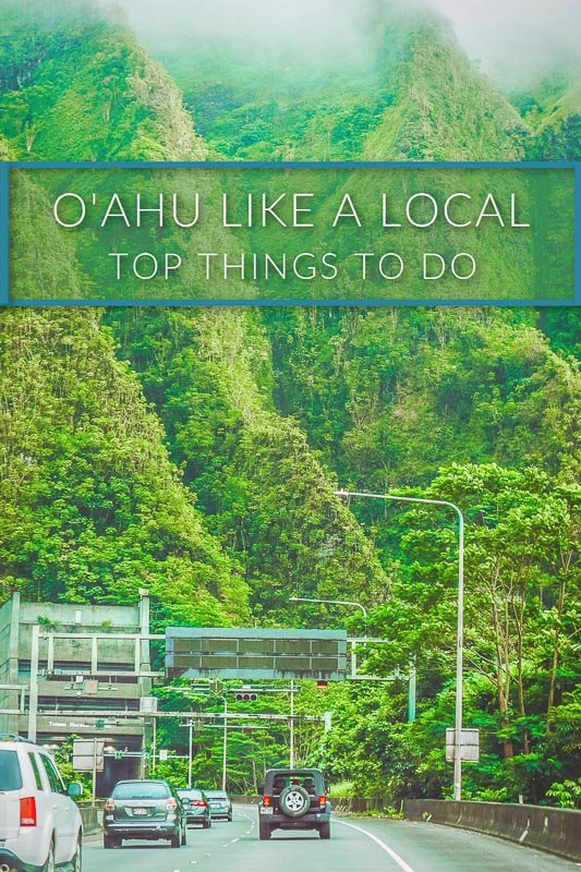 Things to do on O'ahu travel guide for locals pinterest image