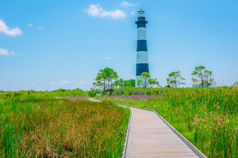 Outer Banks lighthouse is one of the best east coast attractions