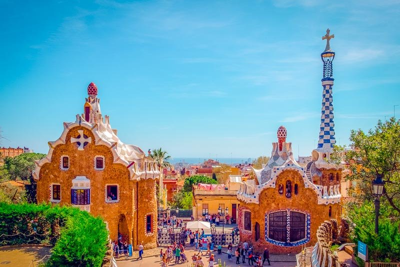 Parc Güell is one of the most beautiful sights in the city of Barcelona.