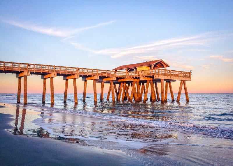 Tybee Beach Pier is one of the best places to visit in Georgia